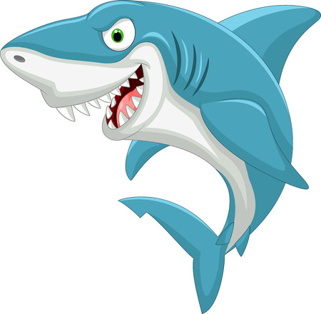 comic characters: Cartoon shark