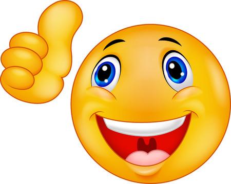 smiley pouce: Bonne bande dessin�e Smiley �motic�nes visage