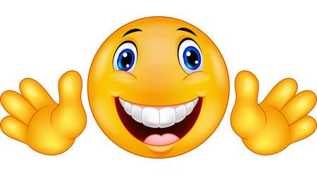 introducing: Emoticon feliz de dibujos animados sonriente Vectores