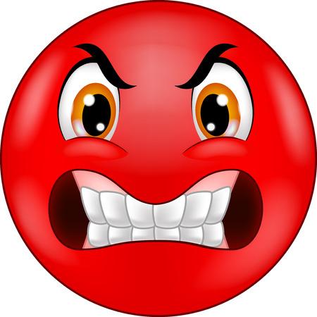 Angry smiley emoticon cartoon