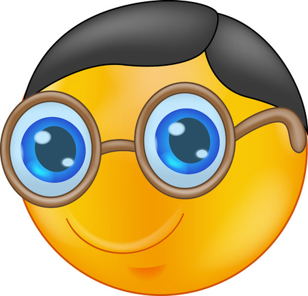 funny people: Smiley cartoon Wearing Glasses