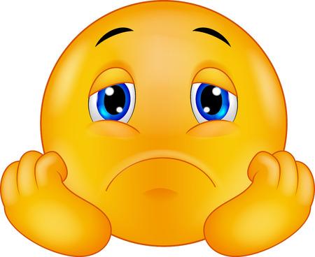 decepci�n: Triste de dibujos animados emoticon sonriente