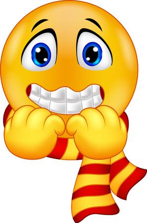 Cartoon una Shivering Smiley Archivio Fotografico - 34099858