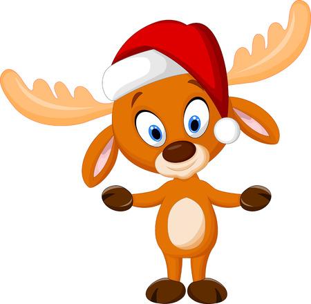 new year's cap: Cute cartoon deer Illustration