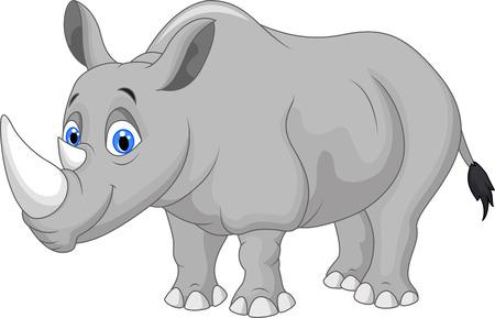 carita feliz caricatura: Rinoceronte de la historieta