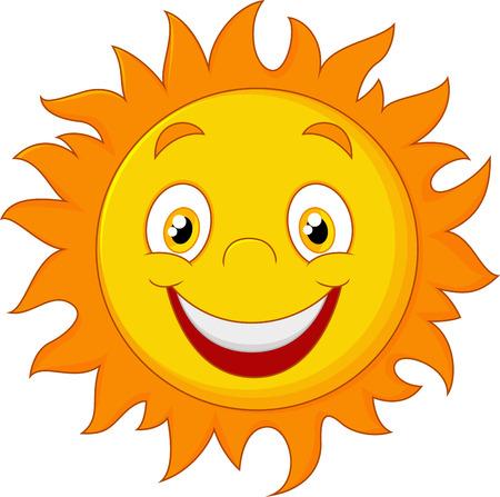 cartoon sun: Happy cartoon sun