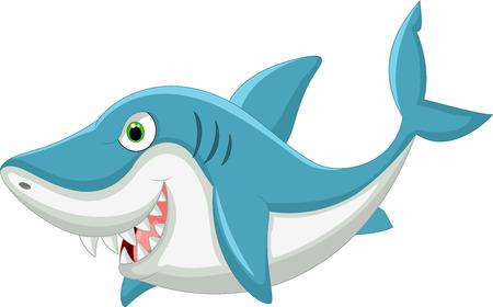 tiburon caricatura: Caricatura de tibur�n Vectores
