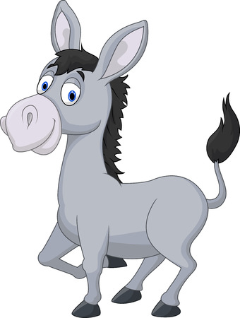 amuse: Cartoon donkey Illustration