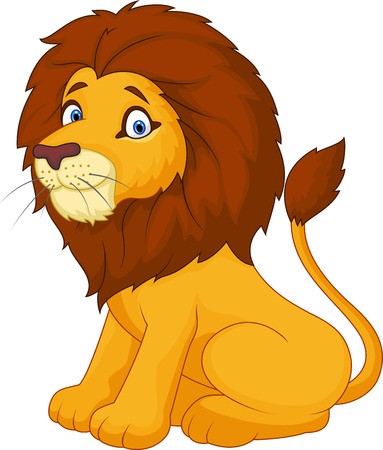 cat: Cute cartoon lion Illustration