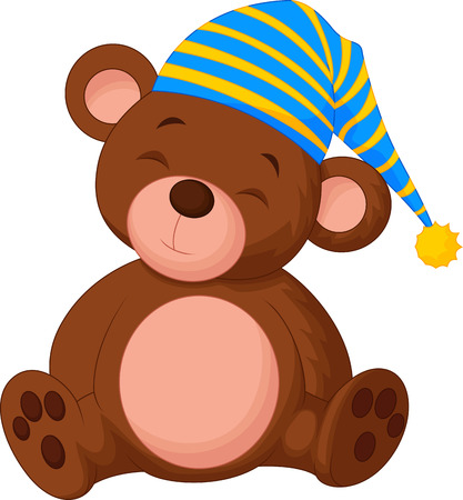 Sweet teddy bear cartoon