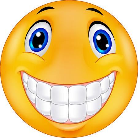 Šťastný smiley tvář karikatura