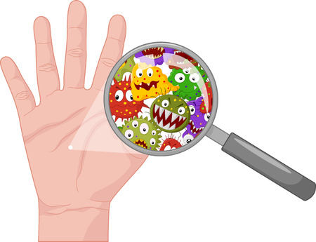 manos sucias: Mano sucia Cartoon Vectores