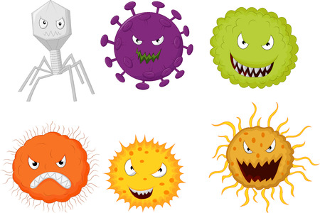 aids virus: Cartoon germ colony