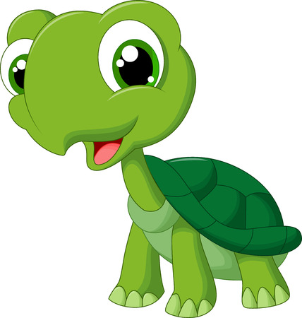 green cute: Cute cartoon turtle