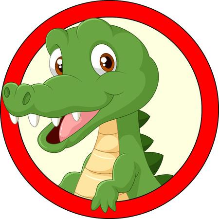 krokodil: Cartoon Krokodil Maskottchen