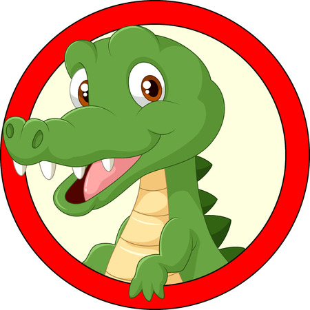 Cartoon crocodile mascot