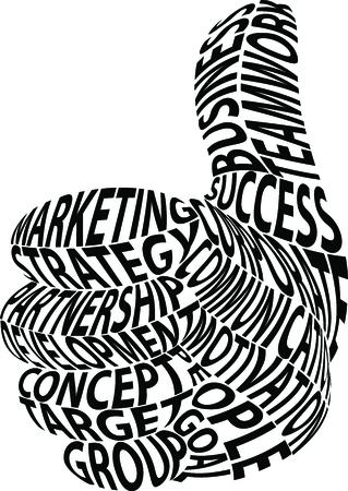accomplish: Illustration of business concept idea cartoon