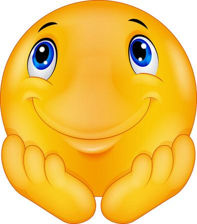 Moticône penser caricature smiley Banque d'images - 35858740