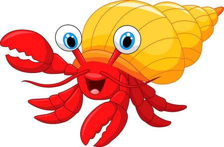 crabs: Cartoon hermit crab
