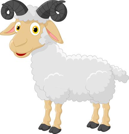 goats: Cute cartoon goat