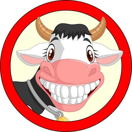 Happy cartoon cow mascot Vector