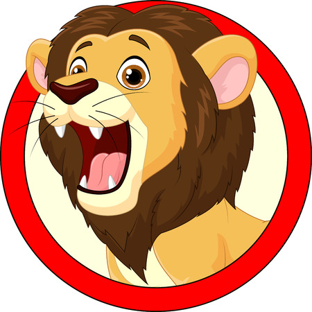 roar: Cartoon lion roaring Illustration