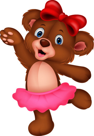 Cartoon baby bear cartoon dancing Illustration