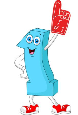 Cartoon number one mascot
