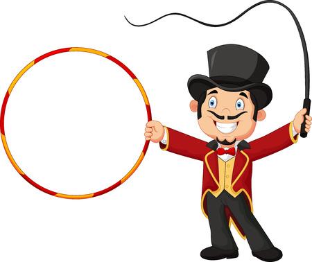 smack: Cartoon tamer holding ring