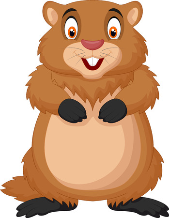 Cartoon happy groundhog Illustration