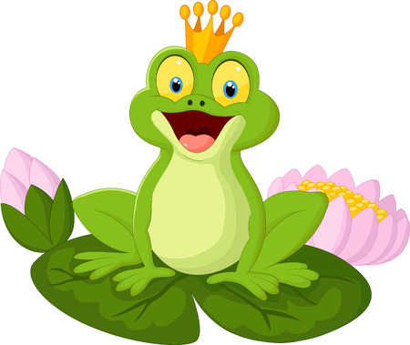 Cartoon king frog