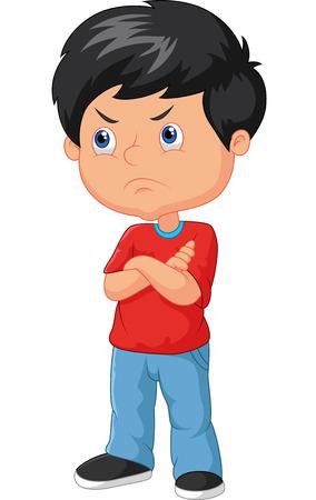 Cartoon angry boy Vector