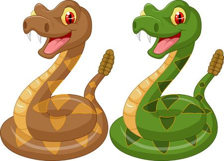 serpiente caricatura: Serpiente de cascabel de la historieta