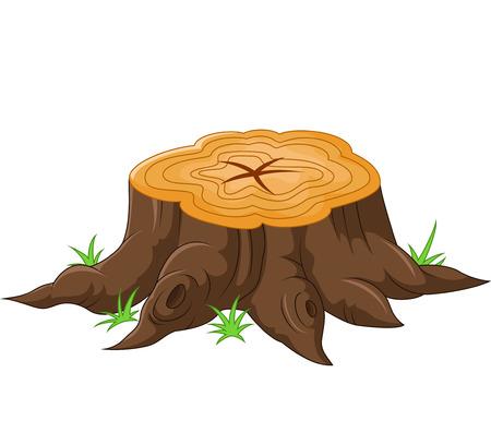leñador: Tocón de árbol de dibujos animados Vectores