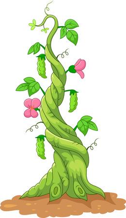 jack up: Cartoon bean stalk