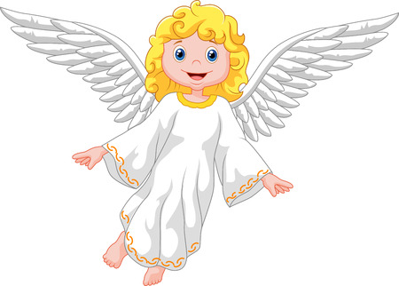 angel wing: Cartoon angel