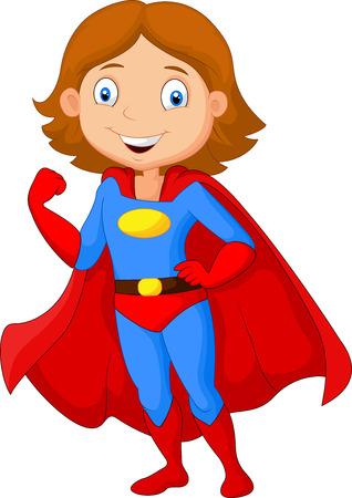 girl fist: Cartoon female super hero posing
