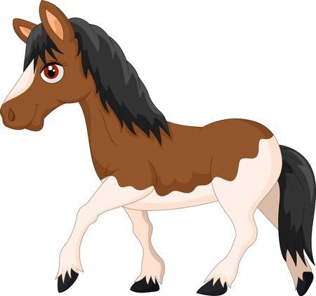 Cartoon pony horse