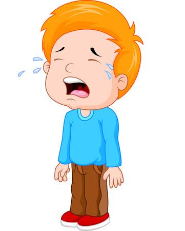 ni�o llorando: Cartoon un ni�o llorando