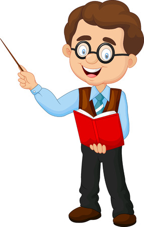 maestro: Profesor de sexo masculino de la historieta