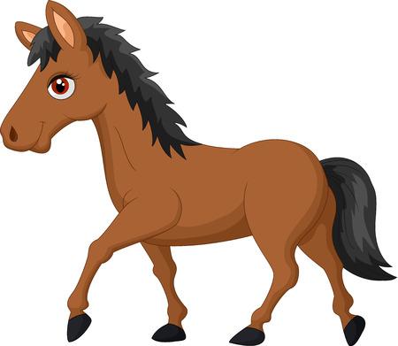 smirk: Cartoon brown horse