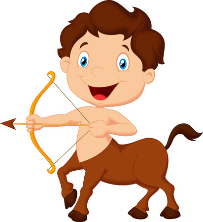Cartoon Zodiac symbol sagittarius