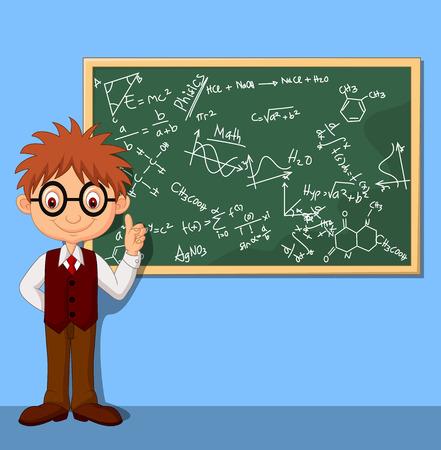 prodigy: Cartoon Chłopiec inteligentnych Ilustracja