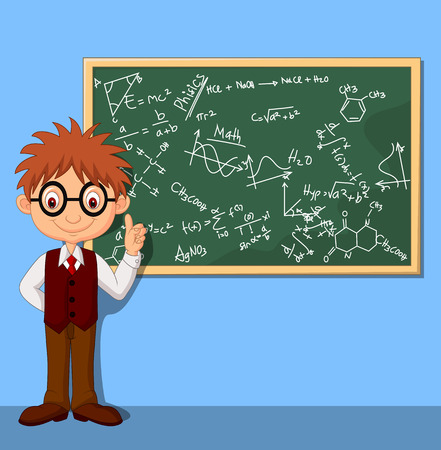 calculations: Cartoon smart boy