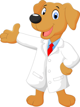 Cartoon doctor dog posing