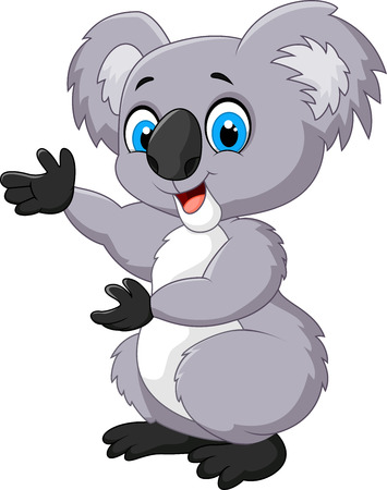 cuddly: Happy cartoon koala