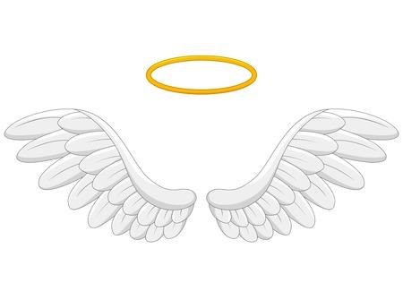 Angel wings cartoon Vectores