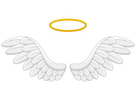 Angel wings cartoon Illustration