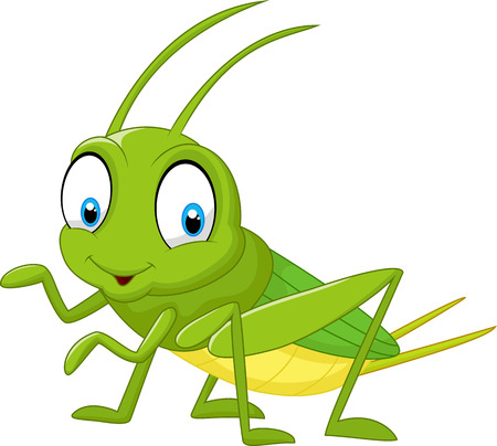 Cartoon funny cricket Vectores