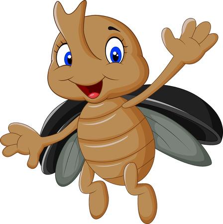 stag beetle: Cartoon stag beetle